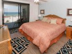 Master bedroom with king bed and Gulf view