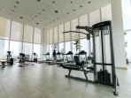 Well equipped gym to stay healthy while travelling.