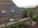 Terrasse avec accès barbecue