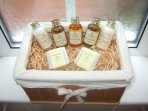 Complimentary soaps and potions