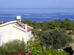 Villa from the rear towards the ocean