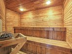 Relax in the soothing sauna.