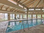 Take a refreshing dip in the community swimming pool.