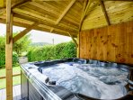 Relax and enjoy the view in the hot tub