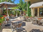 Enjoy al fresco meals with the whole group of 14 out on the patio.