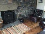 Television Lounge Log Burner