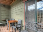 Beautiful balcony w/ grill and spectacular views of the Continental Divide and Keystone.