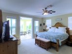 Master bedroom with spectacular Gulf views from veranda