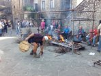Cooking tipical foods ,during the feast in the village