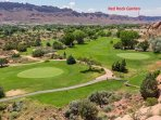 We are right across the street from the 13th Tee at the Moab Golf Course
