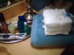 Extra plush towels.  8 white face towels and guest tray updates.