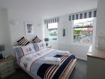The nautical themed bedroom