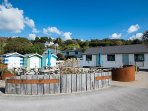 Talland beach cafe serves local food, alcohol and great ice cream! Located steps from your door