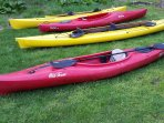 Kayaks available for rent.