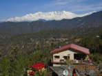 View of Himalaya from Dhamot Home Stay
