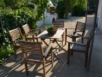 Garden table in pergola