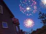 The property has one of the best views of Beals legendary 4th of July fireworks display.
