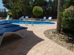 large holiday villa with private garden and pool