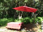 We do have several quiet and relaxing picnic/ dining areas.  Enjoy a good drink or a cup of coffee.