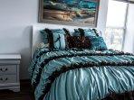 An optional comforter in an upstairs bedroom