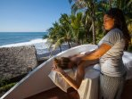 What could be better then massage with the sound of waves & refreshing sea breeze..