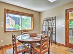 Host your formal meals at the 4-person dining table.