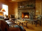 Wood burning fire place in great room. firewood provided