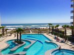 Direct Gulf View! 3 Pools, 30 ft. Balcony