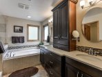 Luxurious master bath Heated floors for those cold mornings