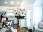 Modern Rustic farmhouse kitchen that is fully equiped.