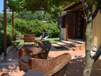 Italian villa for holiday rent with terrace and lake view  near Rome