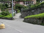 Via Onzanigo is up to the right.