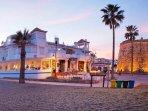 El Torreon frontline restaurant, great central location by the famous tower of La Cala de Mijas.