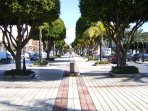 Beautiful La Cala streets, clean and cared for, beautifully shaped trees everywhere.
