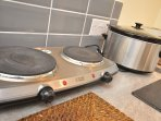 Hot plate in the kitchen