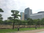 Osaka Castle Park  Japanese television's building (NHK)