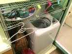 The hairdryer and the washing machine ( the detersive included)