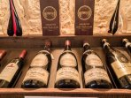 Very special local and very old  and new world wines can be found in the wine cellar.