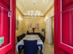 Our wonderful dining room where many scrumptious breakfasts have been enjoyed.