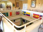 All owners have their flags in the clubhouse, therefore the Swedish flag :-)
