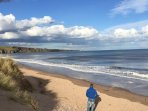 Beautiful Lunan bay is only a few miles away.
