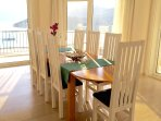 Dining area for 10, fabulous views of Kalkan bay, Kalkan harbour, visiting yachts