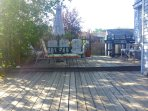 Large sun deck with furniture sets, sit up to 10