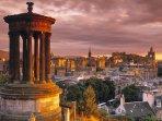 Stewart Monument Edinburgh from Calton Hill