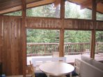 Eat in kitchen with beautiful views of the private tree-filled 5 acres.