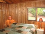 Most bedrooms have warm cedar lined walls. Gorgeous views out the window.