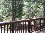 Large Deck with a gorgeous view of the 5 acres. Includes BBQ grill and propane.