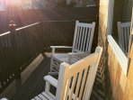 Deck off of bedroom in Back House