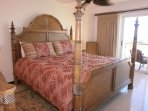 The master bedroom tastefully decorated with all furniture of Tommy Bahama!