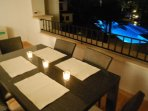 Balcony and table seating 5